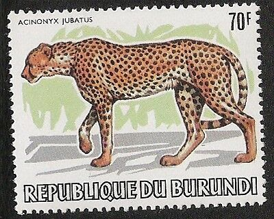 Burundi 1982 African Animals 70 fr Cheetah unmounted mint MNH sg 1395