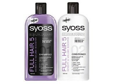 Syoss Set Full Hair Shampoo+Conditioner for Very Thin,Flat/ Stronger & Density