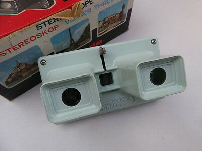 Vintage 1960's Lestrade French Simplex 3D Stereoscope Viewer Green Boxed