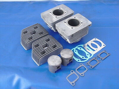 377 Rotax Complete Top End Assembly Cylinders Heads Pistons NEW GASKETS NICE