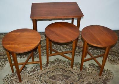 Vintage Teak Nest of 4 Coffee Occasional Tables - FREE Delivery [PL2069]
