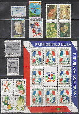Dominican Republic MNH Complete Year Unit for 2001 Scott 1375-1380, 1383-1385