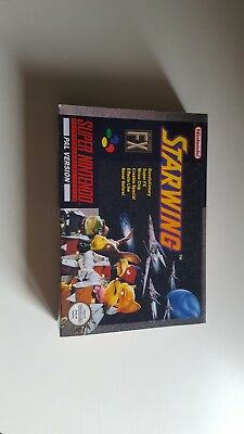 snes starwing reproduction box only