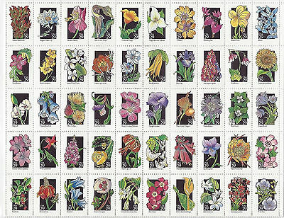 Scott 2696a  (1992) 29-Cent State Wildflower Issue, Sheet of 50 MNH