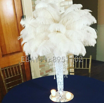 Natural White Ostrich Feathers 12-14inch/30-35cm 10/50/100pcs Diy  Carnival