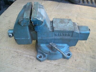 "Wilton Bench Vise 4"" jaws swivel Base pipe jaws Made in USA  well used"