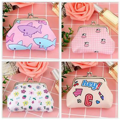 New Girls Funky Coin Purse Sharks Strawberries Money Wallet