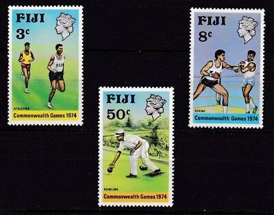 FIJI #341-343 MNH 10th BRITISH COMMONWEALTH GAMES (RUNNERS,BOXING,LAWN BOWLING)