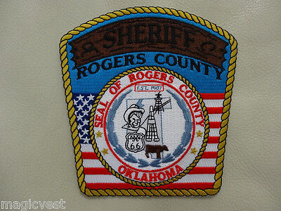 ROGERS COUNTY OKLAHOMA .SHERIFF'S . PATCH..  very collectible...