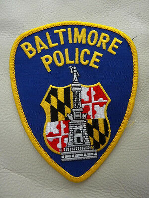Baltimore Maryland..  Police  Patch.
