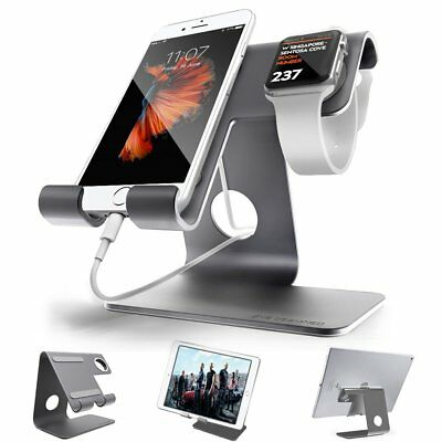 Apple Iwatch Charging Stand,Universal 2 In 1 Cell Phone Stand,ZVE Aluminium And