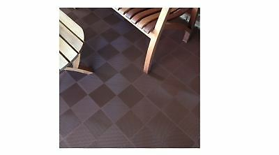 Superieur Plastic Block Flooring Tiles Deck Patio Interlocking Perforated 30 Pk BROWN  Grid