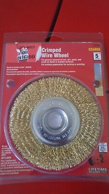 4x 5 inch crimped wire wheel 127 mm metal or wood  BRASS COATED
