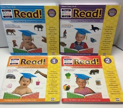 Your Baby Can Read Early Language Development System 4 Books Robert Titzer Phd