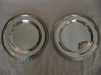 French sterling silver (minerve) round trays Odiot Empire style 895gr