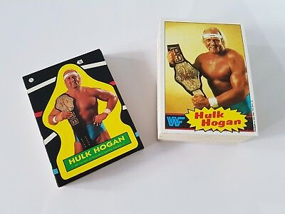 Wrestling Wwf 1985 Topps Complete Card & Sticker Set Wwe