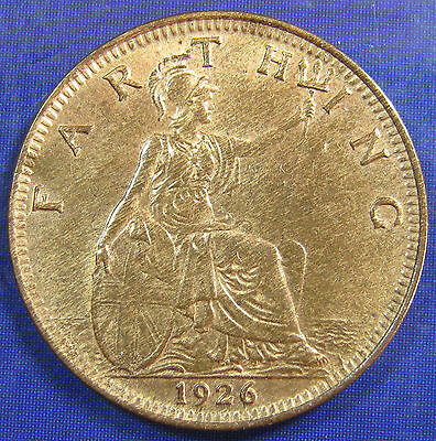 1926 ¼d George V Farthing in a lovely lustrous aUNC