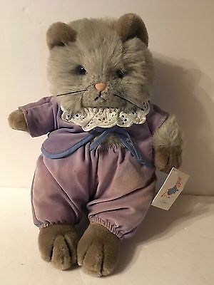 Vtg Beatrix Potter's Peter Rabbit Tom Kitten Plush Stuffed NWT Eden