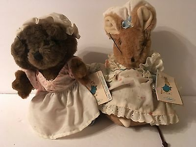 Beatrix Potter's Peter Rabbit Lady Mouse Mrs Tiggly Winkle Plush Stuffed Eden