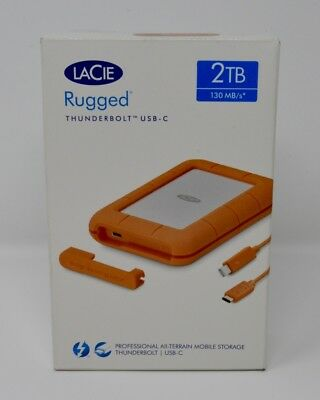 LaCie Rugged 2TB Thunderbolt and USB-C 130MB/s* GENUINE, BRAND NEW AND SEALED.