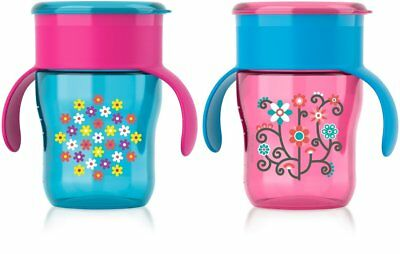 Philips Avent My Natural Drinking Cup 9oz, 2pk, Pink/Blue, SCF782/56