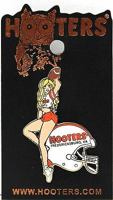 HOOTERS RESTAURANT Girl Football Helmet 2006 Lapel Pin - FREDERICKSBURG, VA