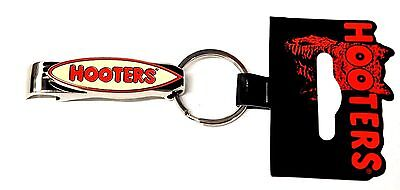 HOOTERS SURFBOARD Crome Metal Bottle Opener Keychain - NEW KEY CHAIN