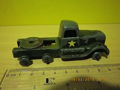 Crescent Original Militar Lorry -Old Metal Truck Made In England -No Box- Camion