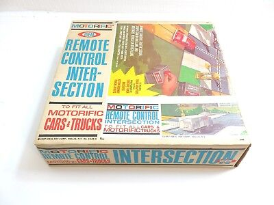 Vintage 1967 Motorific Remote Control Intersection By Ideal With Box