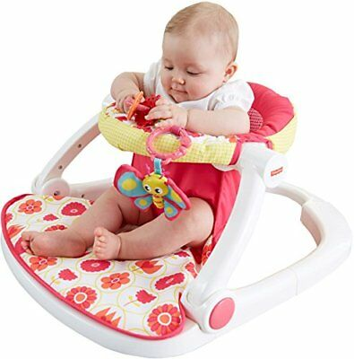 Fisher-Price Sit-Me-Up Floor Seat Genuine Chair Safe Kids Baby Comfortable Pink
