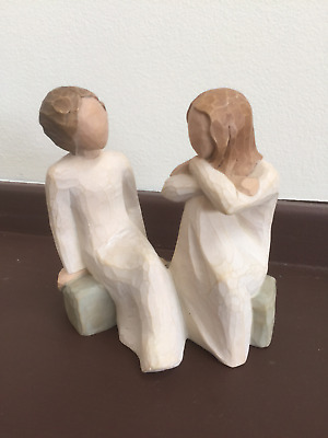 Willow Tree figurine of two women entitled Heart and Soul