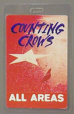 Counting Crows backstage pass Laminated AUTHENTIC Red
