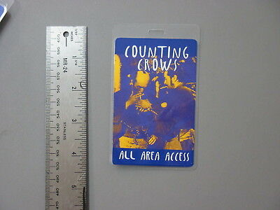 Counting Crows backstage pass Otto Laminated All Area Access - BLUE!