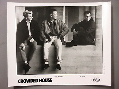 Crowded House promo photo 8 X 10 black & white matte finish photo ORIGINAL 1986!