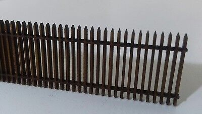 Laser Cut OO/HO Gauge Security Fence Pack of 4 Sections Each 200mm Long 2mm MDF
