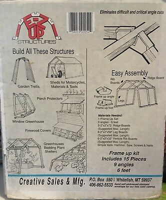 EZ-UP Universal Framing System KIT - Build your choice of 6-8 foot structures!