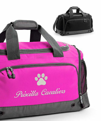 Personalised Dog / Cat Grooming Holdall Bag, Pet Show, Embroidered Travel Case