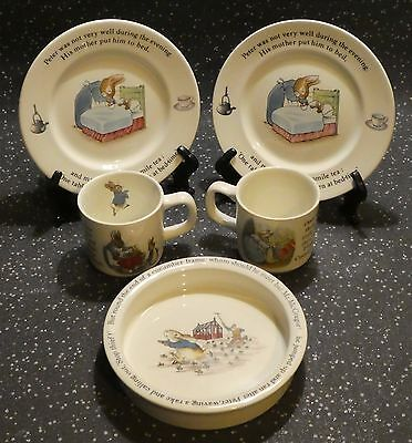 WEDGWOOD OF ETRURIA & BARLASTON PETER RABBIT BEATRIX POTTER MUG and PLATE