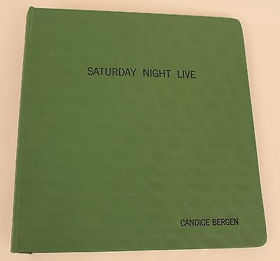 Saturday Night Live * 1987 SNL TV Script * USED BY THE HOST Candice Bergen