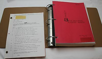 59th Academy Awards * 1987 Script Production Binder * Platoon, Chevy Chase Host