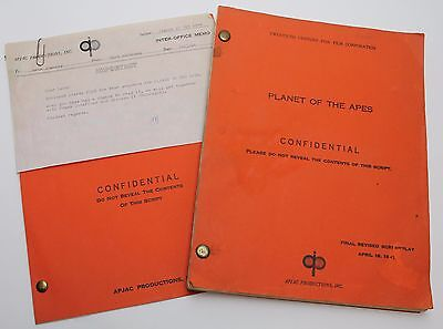 PLANET OF THE APES * 1967 Original Movie Script & also the 5 page TEST SEQUENCE