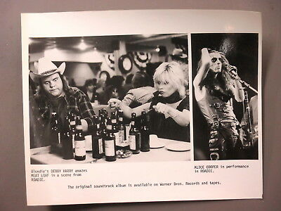 Roadie promo photo 8 X 10 black & white photo Debbie Harry, Alice Cooper, MEAT !
