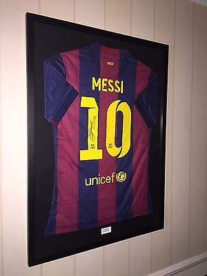 Signed Lionel Messi Barcelona Shirt with COA