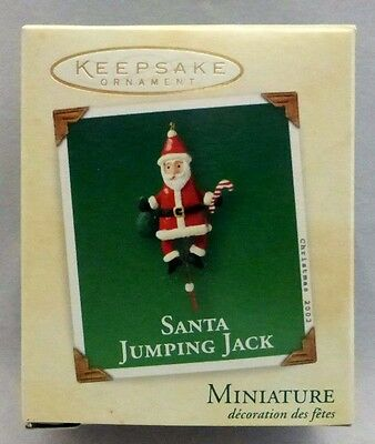 2002 Hallmark SANTA JUMPING JACK Miniature Keepsake Ornament