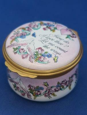 HALCYON TRINKET BOX VALENTINE'S DAY 1991 How Do I Love Thee?