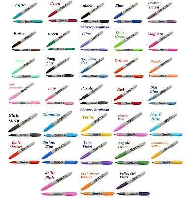 Sharpie Permanent Marker Fine Point Tip Pens, 50 Assorted Colours New