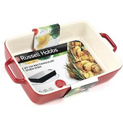 Russell Hobbs High Quality Red Rectangular Oven Dish Stoneware Ovenware  27 cm