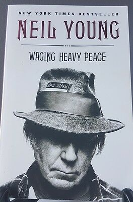 Best Selling Book Neil Young Waging Heavy Peace 2012 pre owned Nice condition