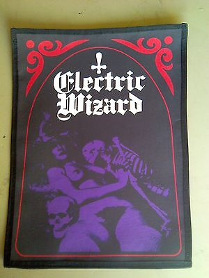 Electric Wizard,sew On Sublimated Large Back Patch