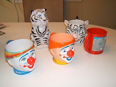 Ringling Brothers And Barnum & Bailey Circus Souvenir Cups. Lot Of 5